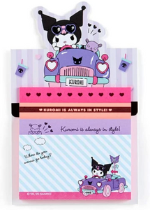 Kuromi Tack Memo/ Memo Pad with Stand by Sanrio Japan