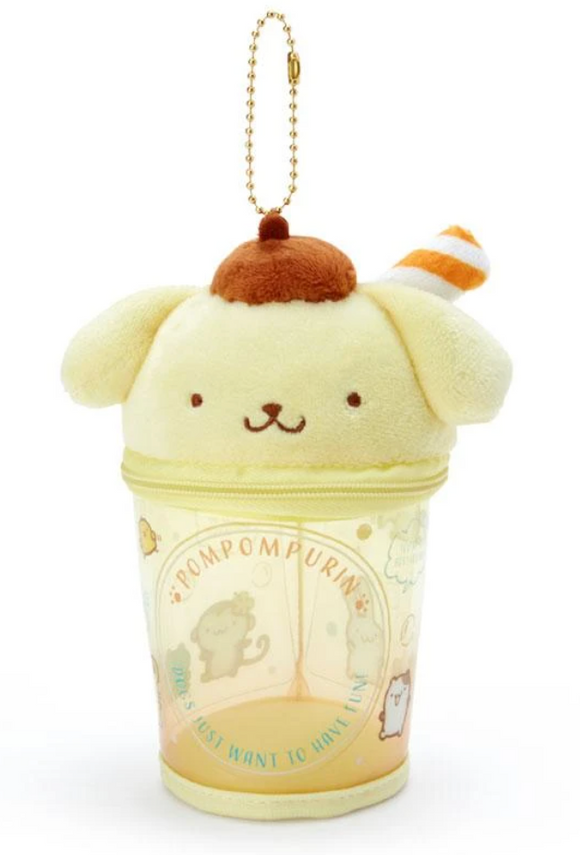 Pompompurin Plush Cup Pouch / Summer Time Series by Sanrio