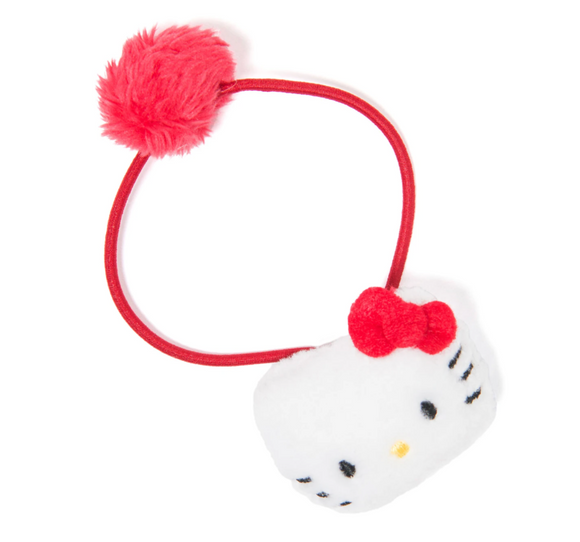 Hello Kitty Mascot with Pom Pom Ponytail Holder by Sanrio