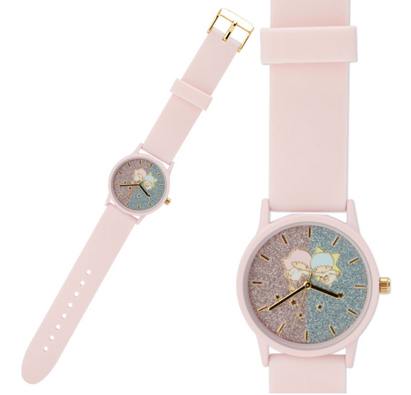 Little Twin Stars Watch with Silicon Belt & Glitter Gradient by Sanrio