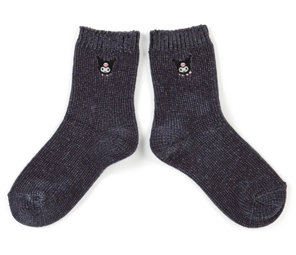 Kuromi Super Soft Mokomoko Crew Socks by Sanrio