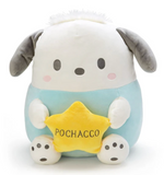 Pochacco Sitting Mochi Plush Holding Star with Round Shaped by Sanrio