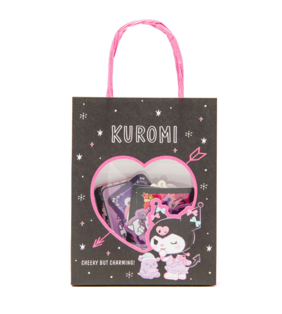 Kuromi Stickers in Mini Paper Shopping Bag by Sanrio