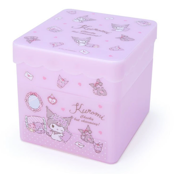 Kuromi Storage Box with Tray by Sanrio