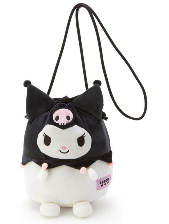 Kuromi Drawstring Pouch Bag with Should String by Sanrio