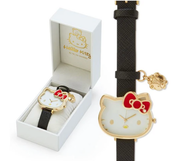 Hello Kitty Face Watch with Gold Outline by Sanrio