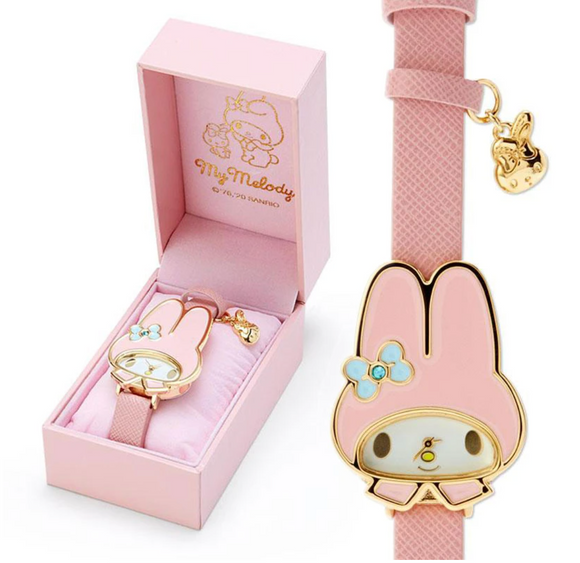 My Melody Face Watch with Gold Outline by Sanrio