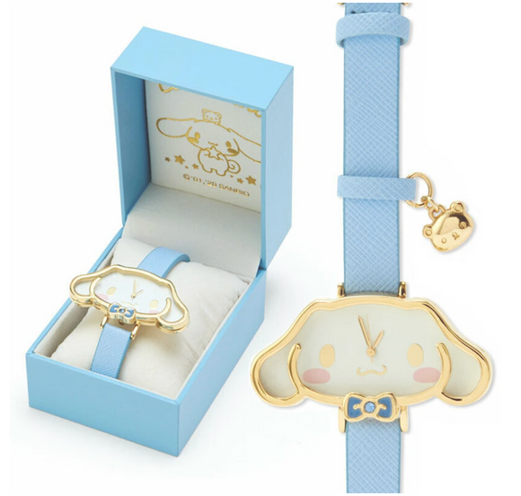 Cinnamoroll Face Watch with Gold Outline by Sanrio