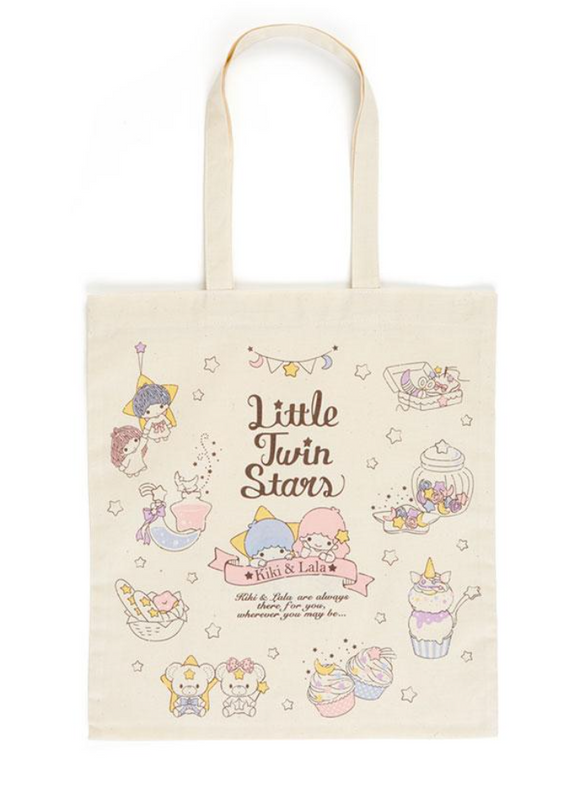 Little Twin Stars Cotton Thin Tote Bag by Sanrio