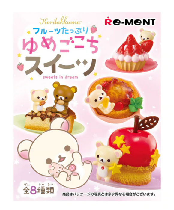 Re-Ment Rilakkuma & Korilakkyma Fruit Dessert Blind Box Series by San-X
