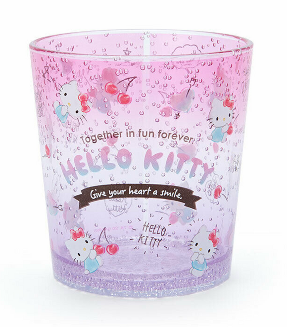 Hello Kitty Clear Plastic Cup/ Tumble Bubble Series with Cherry by Sanrio