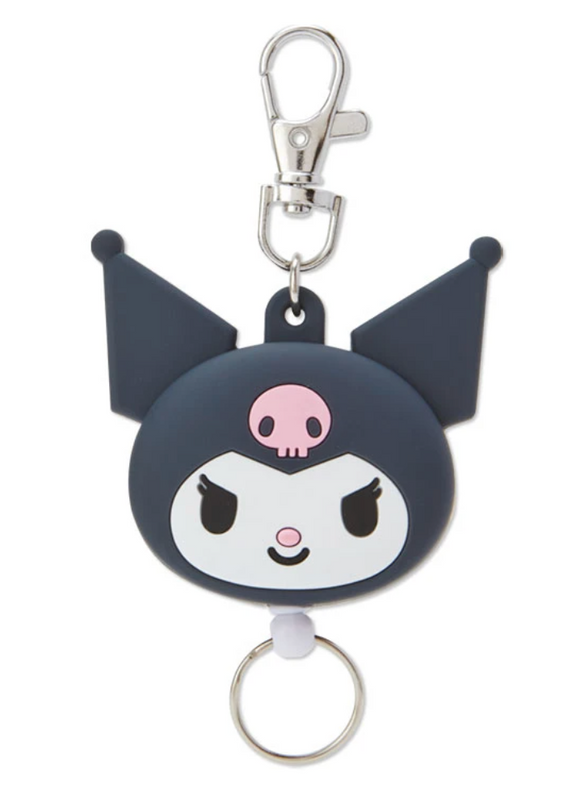 Kuromi Die Cut Face Reel ID/ Key Holder by Sanrio