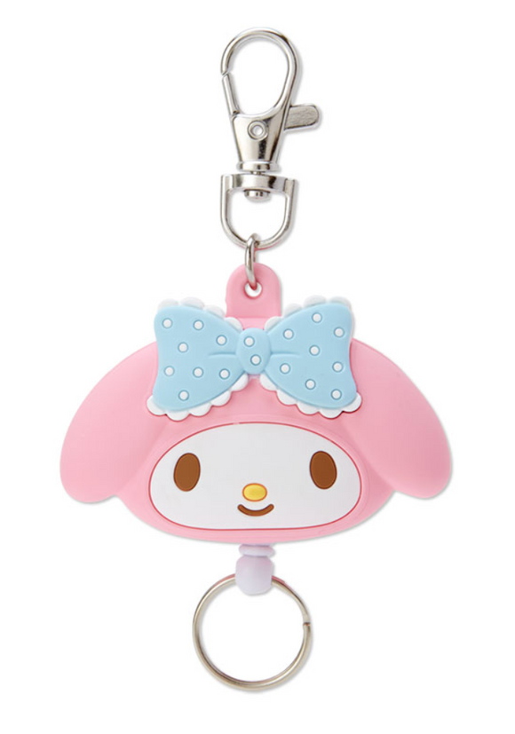 My Melody Die Cut Face Reel ID/ Key Holder by Sanrio