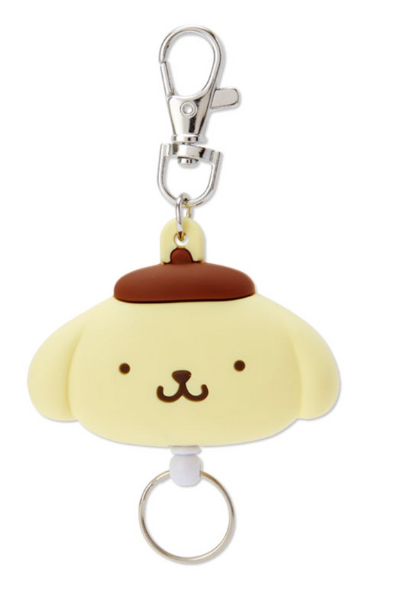 Pompompurin Die Cut Face Reel ID/ Key Holder by Sanrio