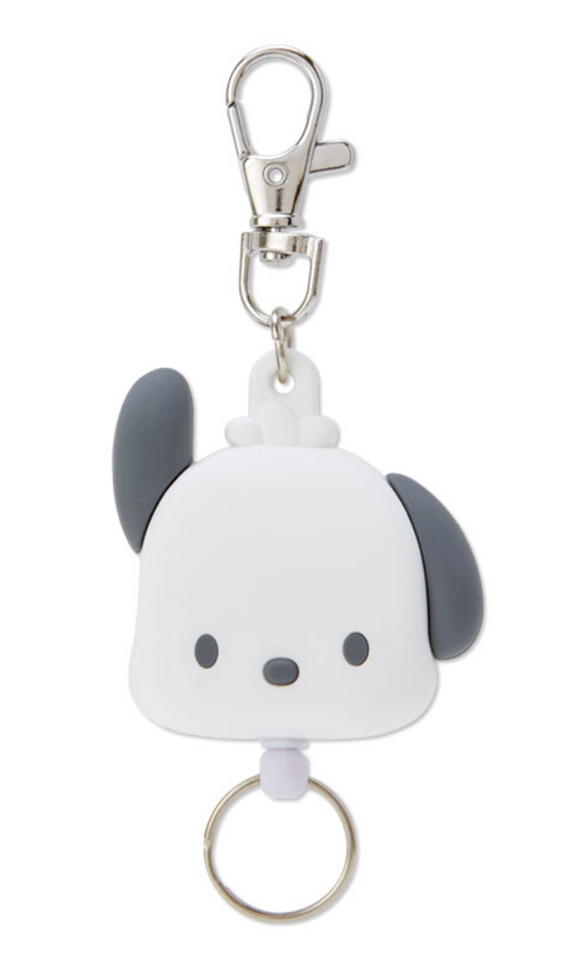 Pochacco Die Cut Face Reel ID/ Key Holder by Sanrio