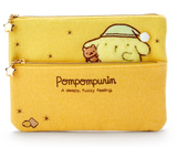 Pompompurin Sleepy Series Flat Pouch by Sanrio