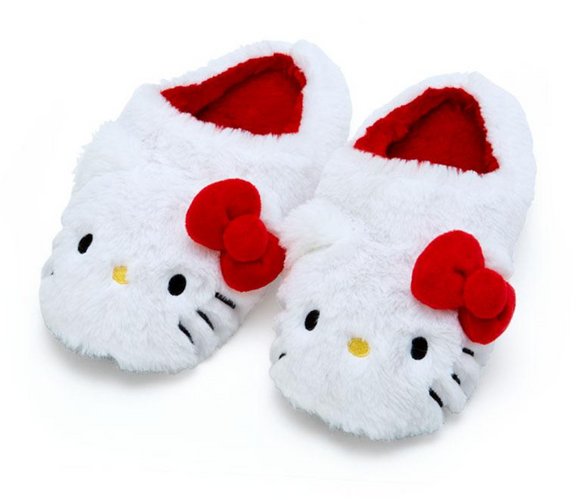 Hello Kitty Plush Furry Slippers by Sanrio