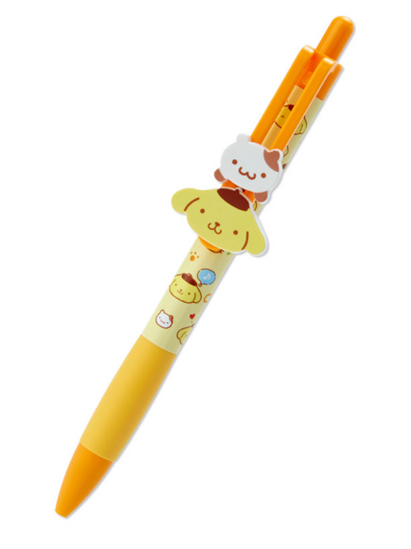 Pompompurin Ball Pen with 2 moving mascots by Sanrio