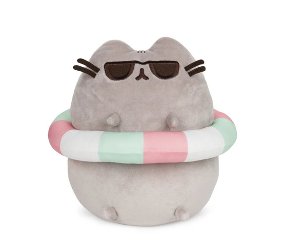 Pusheen with sunglasses & inner tube summer look plush 9.5 IN - Megazone