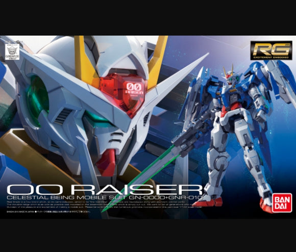 RG (18) 00 Raiser 1/144 Celestial Being Mobile Suit GN-0000+GNR-010 - Megazone