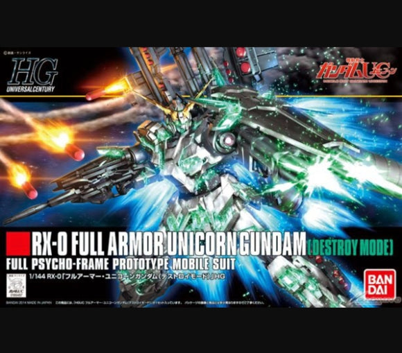 (HGUC) #178 1/144 RX-0 Full Armor Unicorn Gundam (Destroy Model) - Megazone