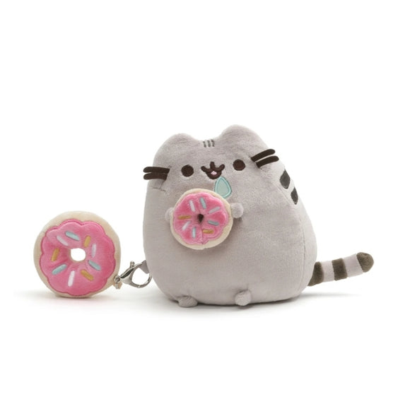 Pusheen With Donut & Removable Bonus Clip - Megazone