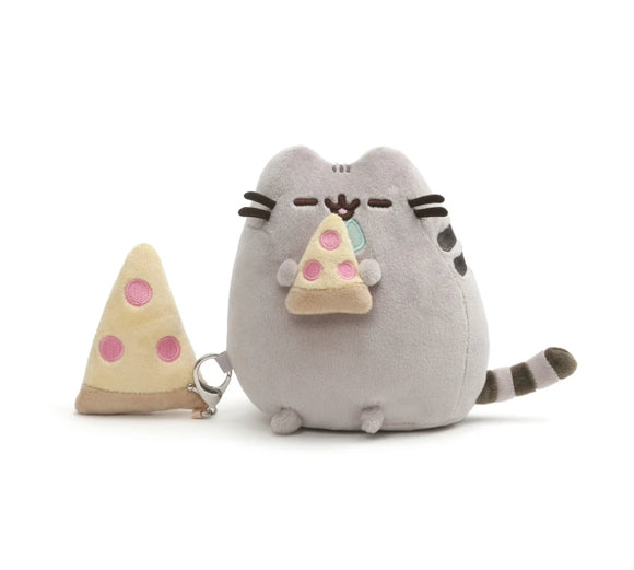 Pusheen with Pizza & removable clip-on plush pizza - Megazone