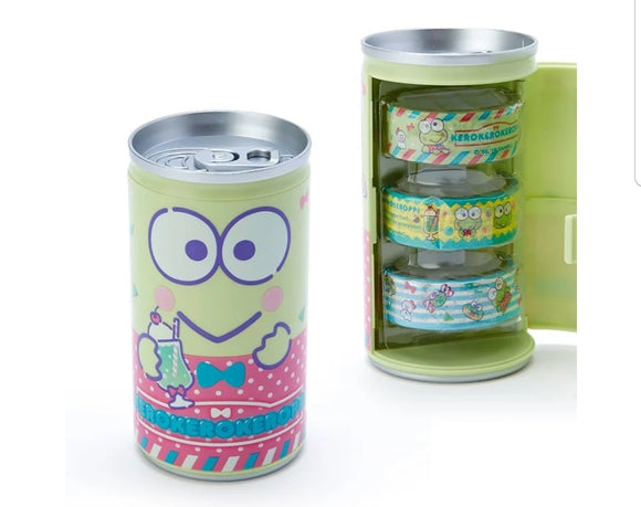 Kerokerokeroppi Can of Washi Tape by Sanrio - Megazone