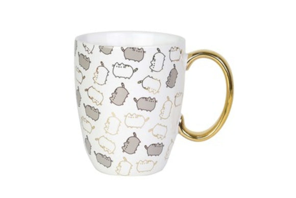 Pusheen Gold Pattern Coffee Mug 12 oz by Pusheen/ Enesco - Megazone