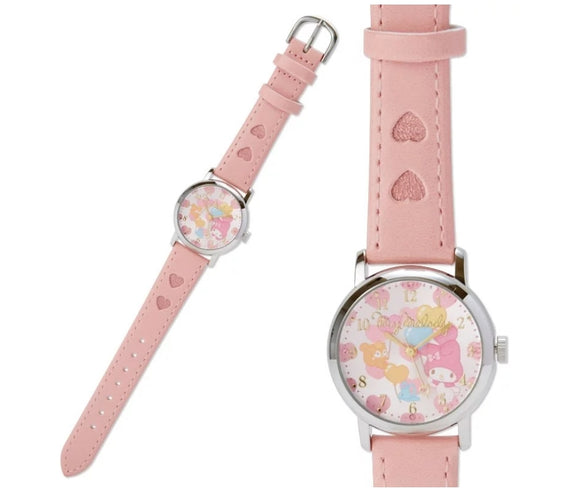 My Melody Wristwatch with Heart/ Peach Strap by Sanrio - Megazone