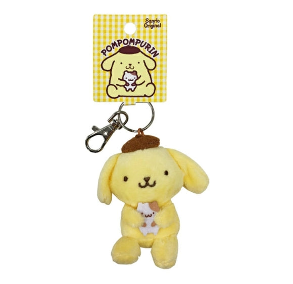 Pompompurin Plush Key Chain by Sanrio