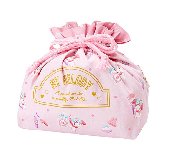 My Melody Drawstring Accessories/Lunch Pouch by Sanrio
