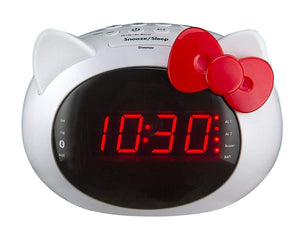 i Home Hello Kitty Bluetooth Dual Alarm Clock Radio Speaker by Sanrio