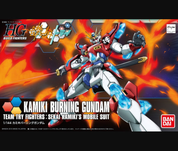 (HGBF) #043 1/144 Kamiki Burning Gundam Team Try Fighter : Sekai Kamiki's Mobile Suit