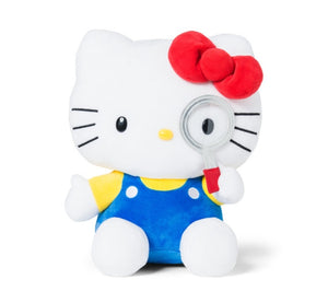 "Hello Kitty 10"" Plush with magnifying glass by Sanrio"