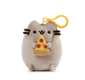 "Pusheen Backpack Clip Pizza 5"" Plush /Grey by Gund"