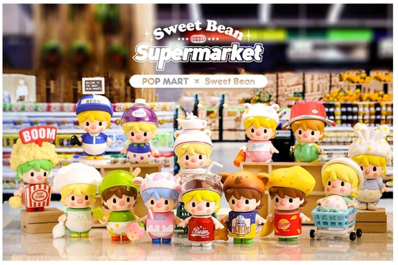 1 Sweet Bean Supermarket Blind Box by POP MART+ 1 Kawaii Sticker
