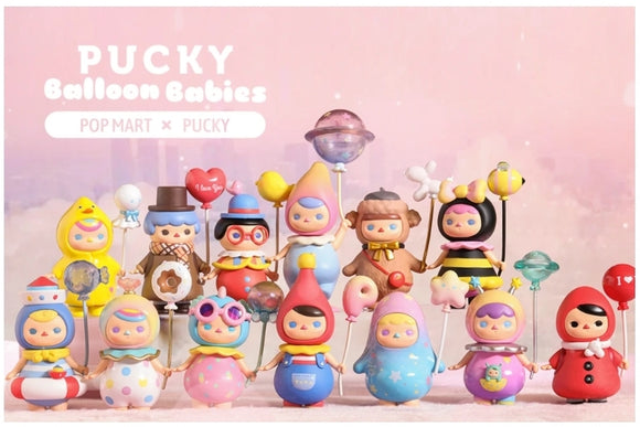 1 Pucky Balloon Babies Blind Box by Pucky x POP MART+ 1 Kawaii Sticker