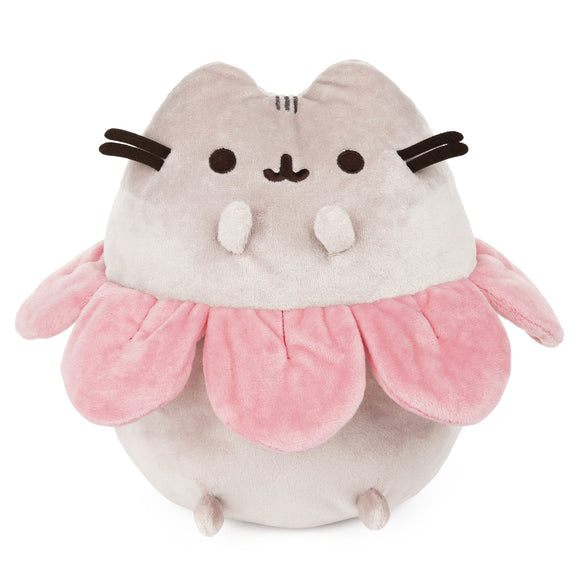 Pusheen with Pink Flower Petals Plush by Gund