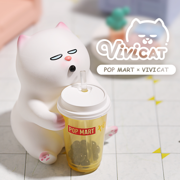 Vivicat Lazy Friends Blind Box by POP MART + 1 Kawaii Sticker