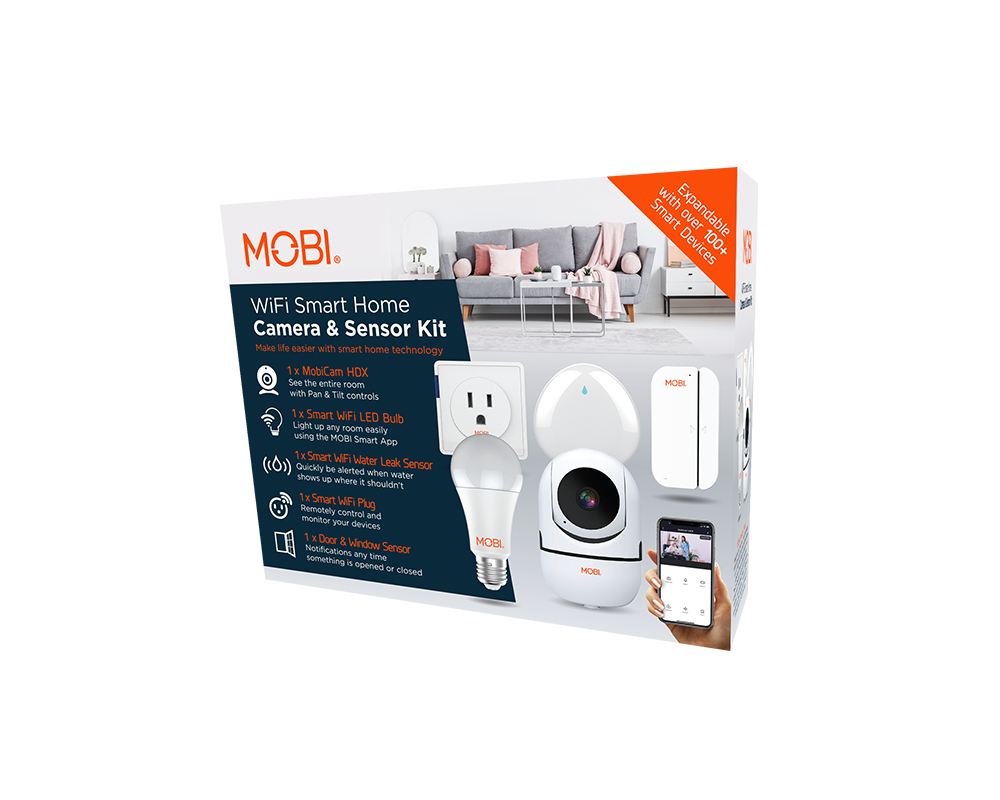 MOBI Smart Home Camera and Sensor Kit