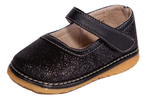 Black Sparkle Girl Toddler Shoe