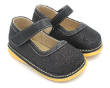 Black Sparkle Girl Toddler Shoes