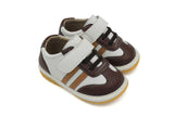 Brown and Tan Sneaker Squeaky Shoes