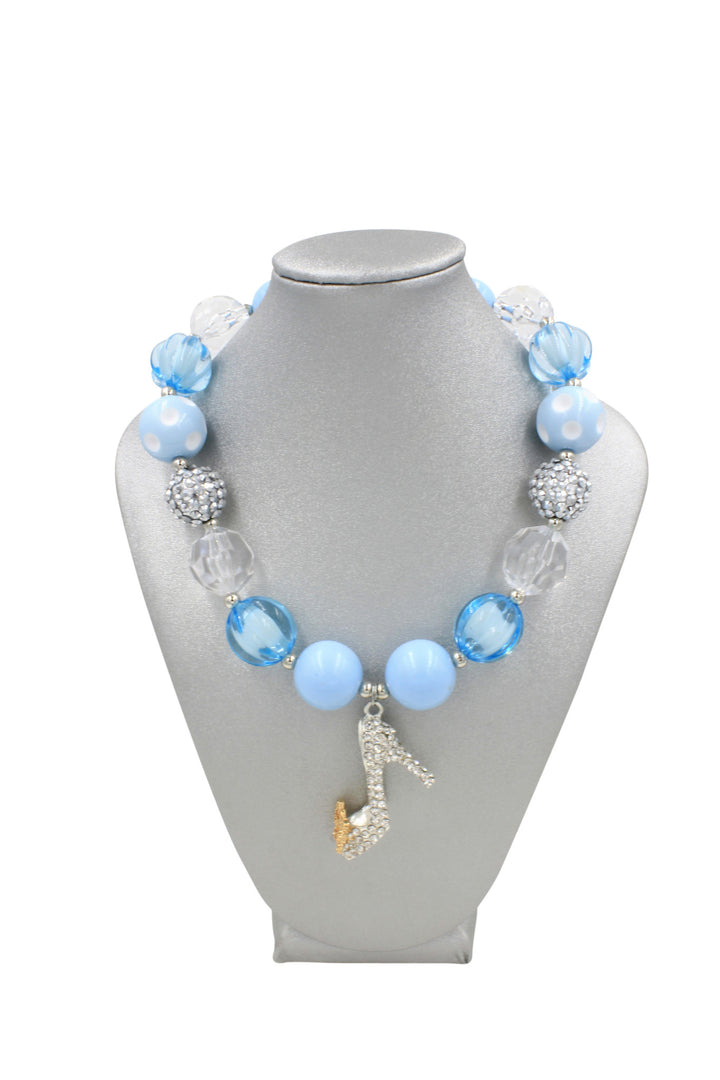 Light Blue Slipper Girl Gum Ball Dress Up Necklace