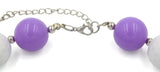 Purple Tear Drop Gem Girl Gum Ball Necklace Connection