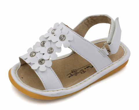 White Girl Squeaky Sandals