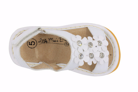 Squeaky shoes for toddlers girls white with flowers sandals mightylinksfo
