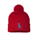 The Original Red Pom Chugg Beanie