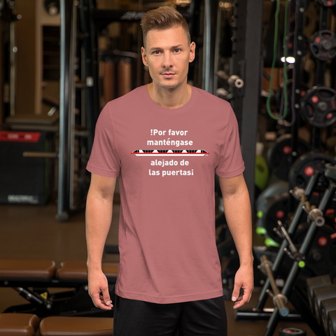 Please Stand Clear of the Door! Short-Sleeve Unisex T-Shirt
